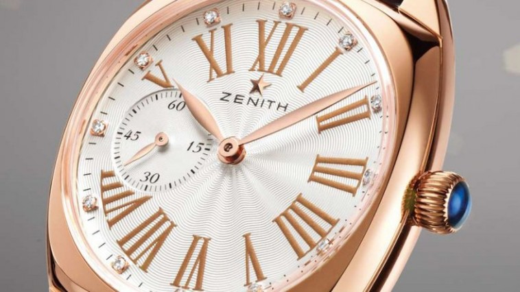 33mm The Precious Replica Cushion-shaped Rose Gold Zenith Heritage Star Watch for Ladies