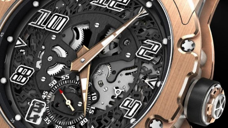 The Road to Sporty Rose Gold Richard Mille RM 33-01 Automatic Round Skeleton Replicas