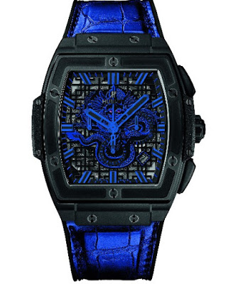 Best Replica Hublot Spirit of Big Bang Bruce Lee Be Water Limited Edition - Blue Dragon