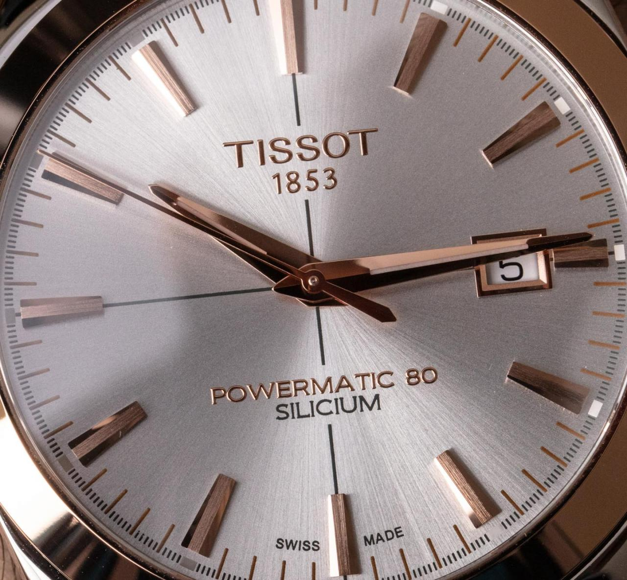 Tissot Gentleman Powermatic Silicium 18k-Gold Bezel Should fake watches Be Watch Guy's First Piece With Precious Metal